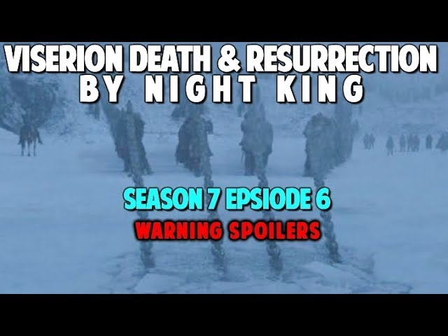 Night King Kills Viserion and Ressurects Him As White Dragon – Game of Thrones Season 7 Episode 6