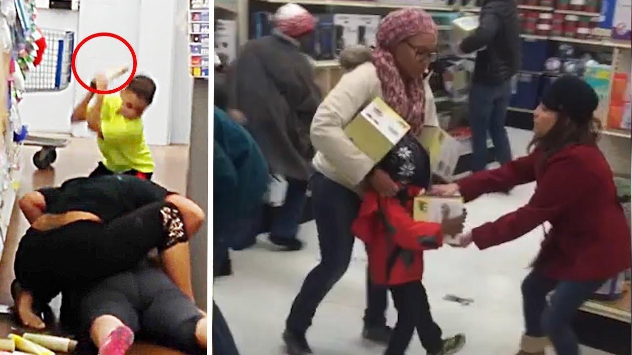 Black Friday Shopping Chaos Compilation 2018 Usa Virals